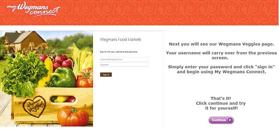 Mywegmansconnect login