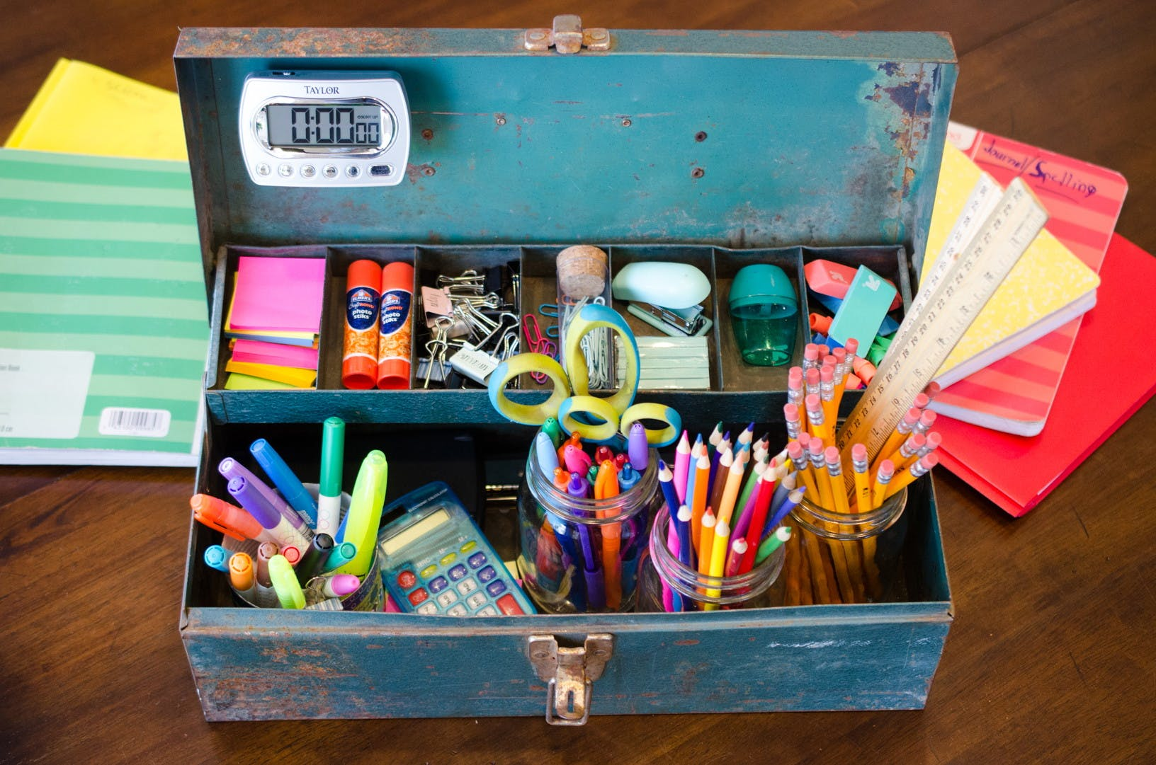 Organizing School Supplies for Use at Home