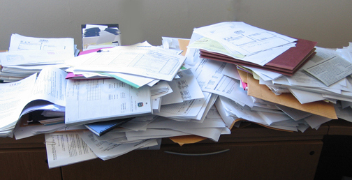 Piles of papers