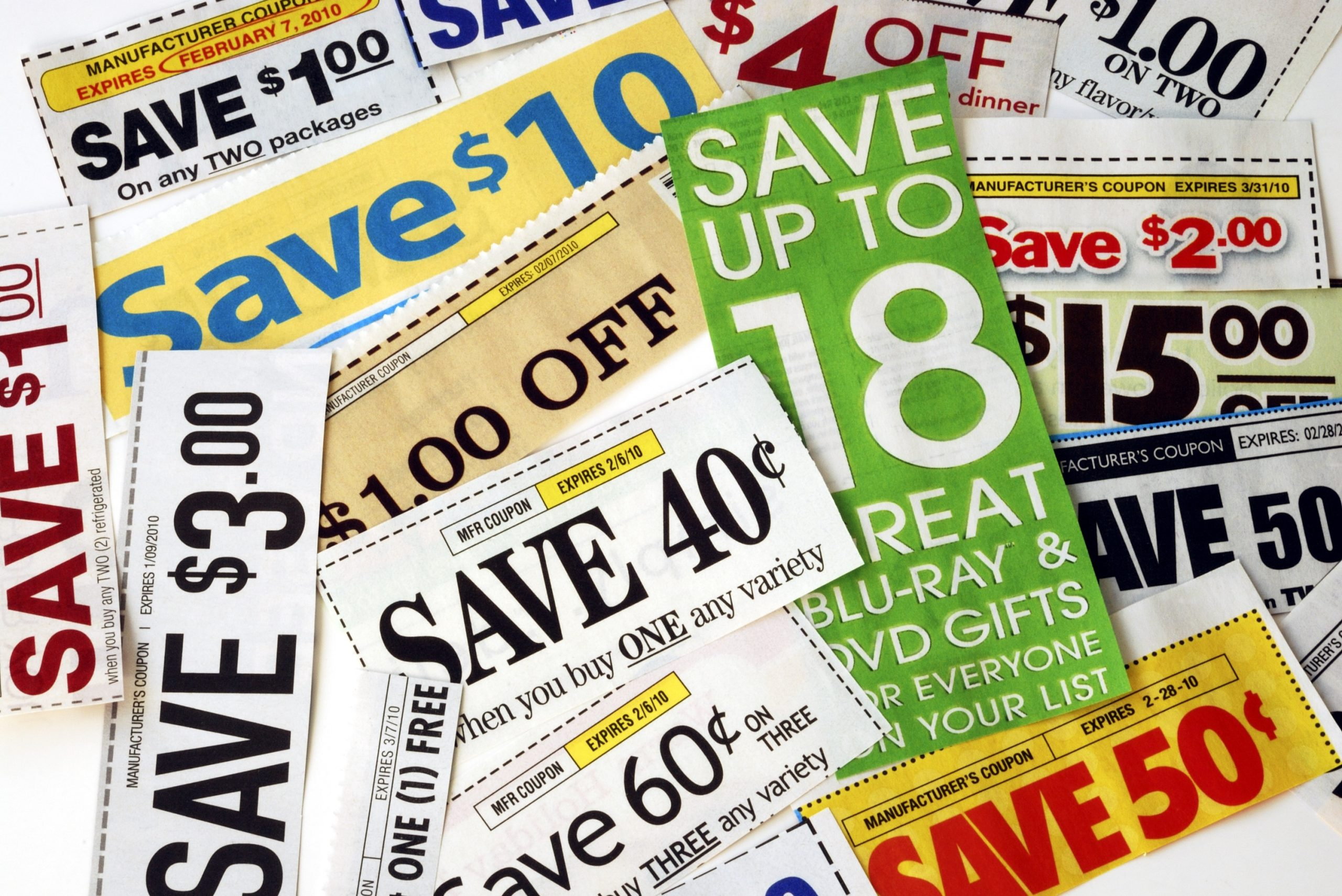 Sample Organized Coupons