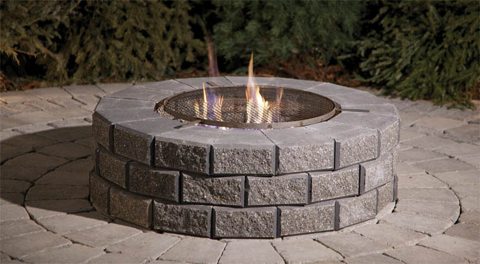 Stone Bar Fire Pit Comb