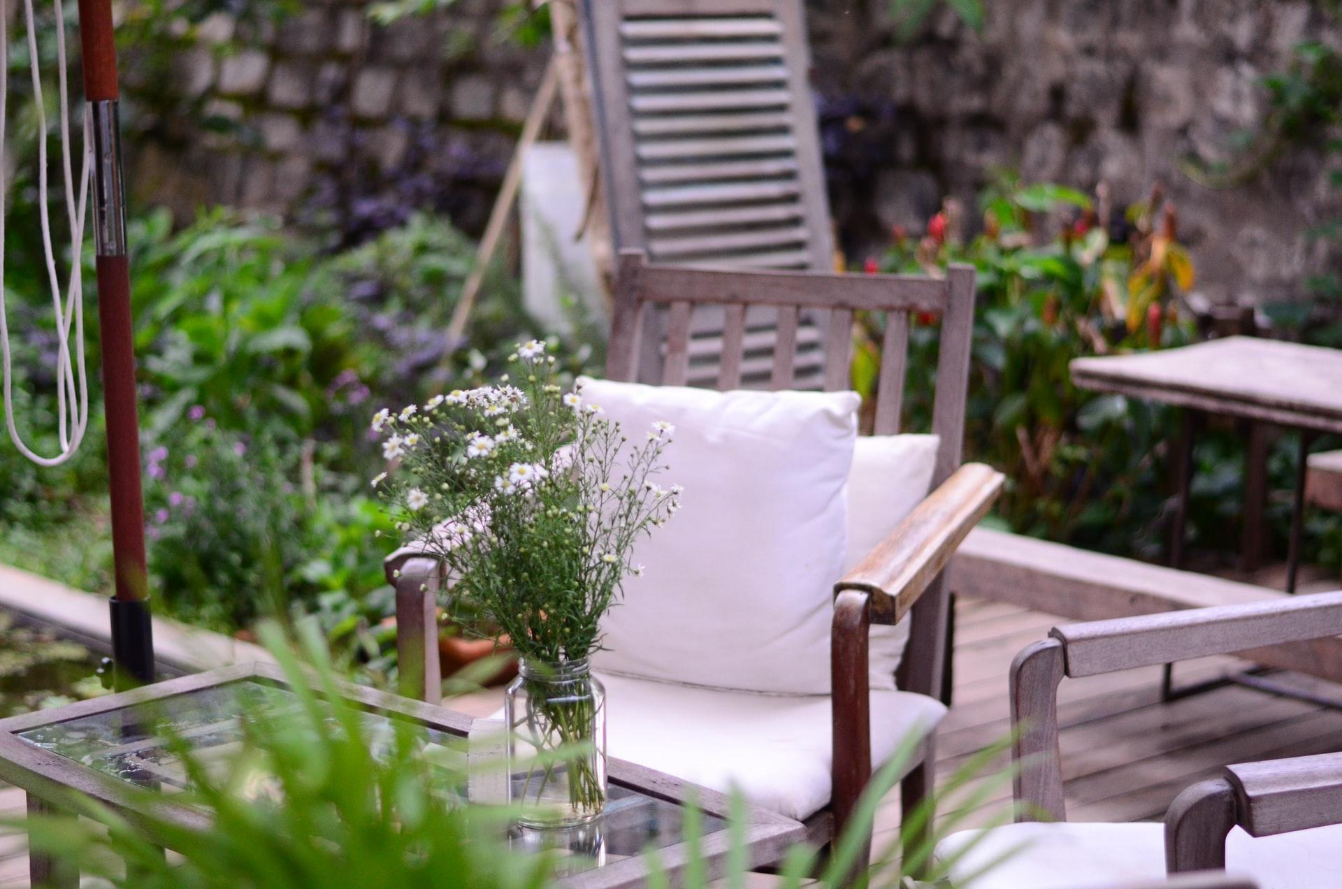 A picture containing outdoor, porch, plant, garden  Description automatically generated