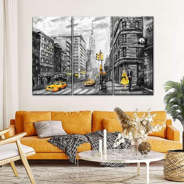 NYC Painting Multi Panel Canvas Wall Art