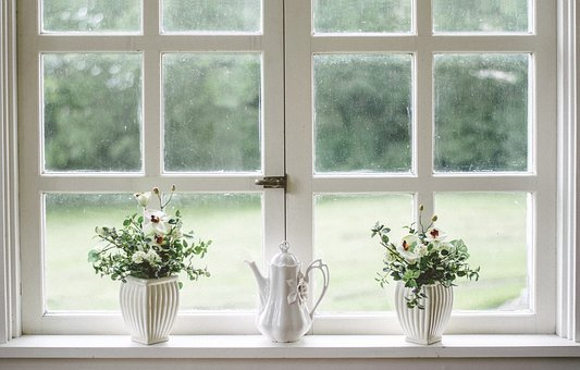 White, Window, Glass, Shield, Frame